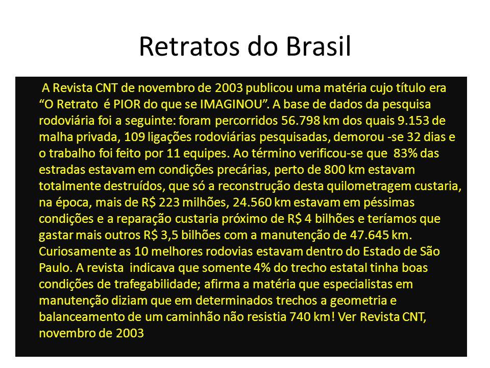 Retratos do Brasil A Revista CNT de novembro de 2003 publicou uma matéria cujo título era O Retrato é PIOR do que se IMAGINOU. A base de dados da pesq