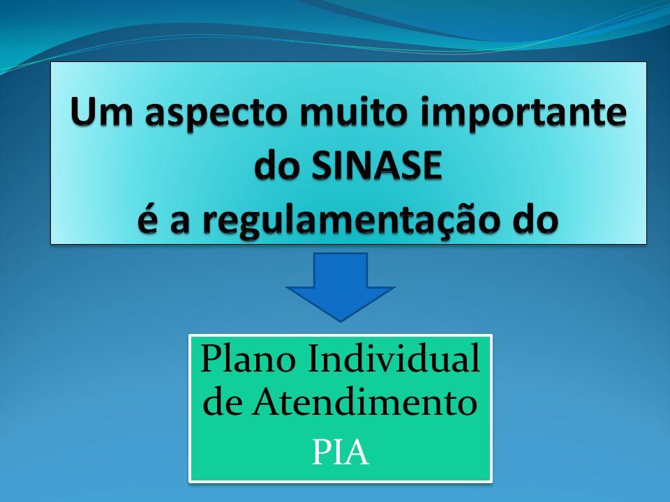 Plano Individual de Atendimento PIA Plano Individual de Atendimento PIA