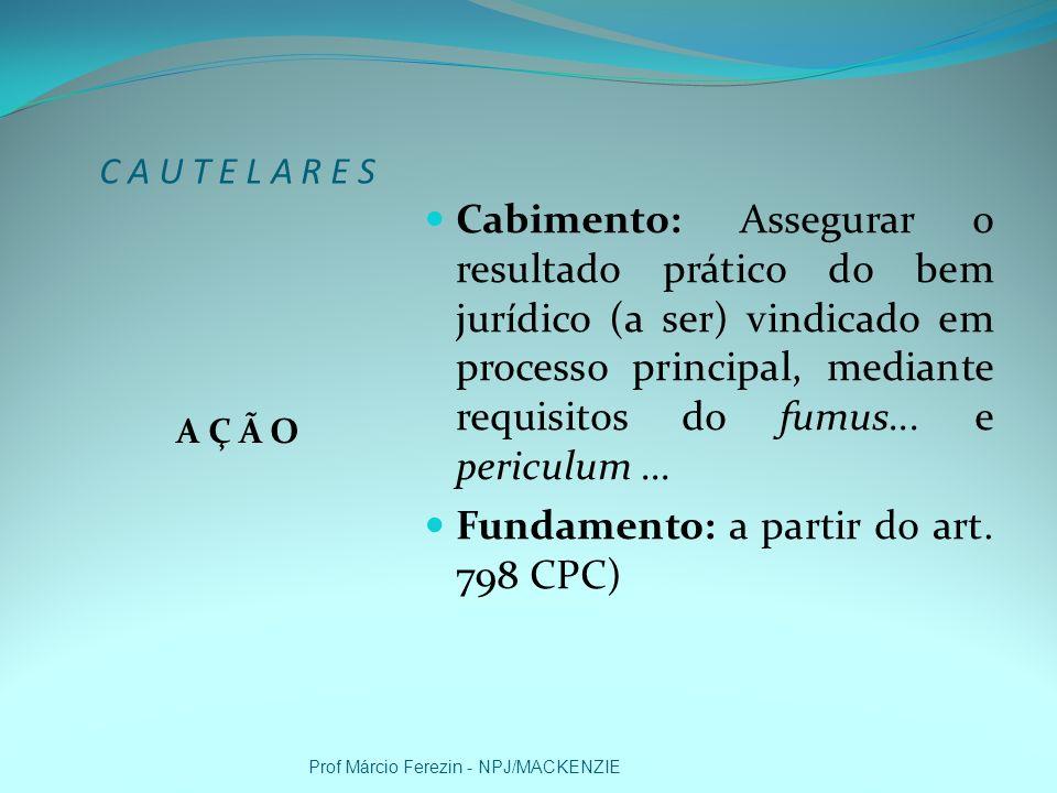 CAUTELARES I N I C I A L CPC: ARTS.