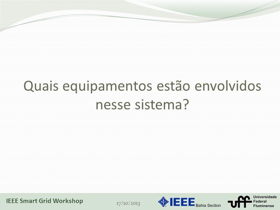 Quais equipamentos estão envolvidos nesse sistema? 17/10/2013 IEEE Smart Grid Workshop