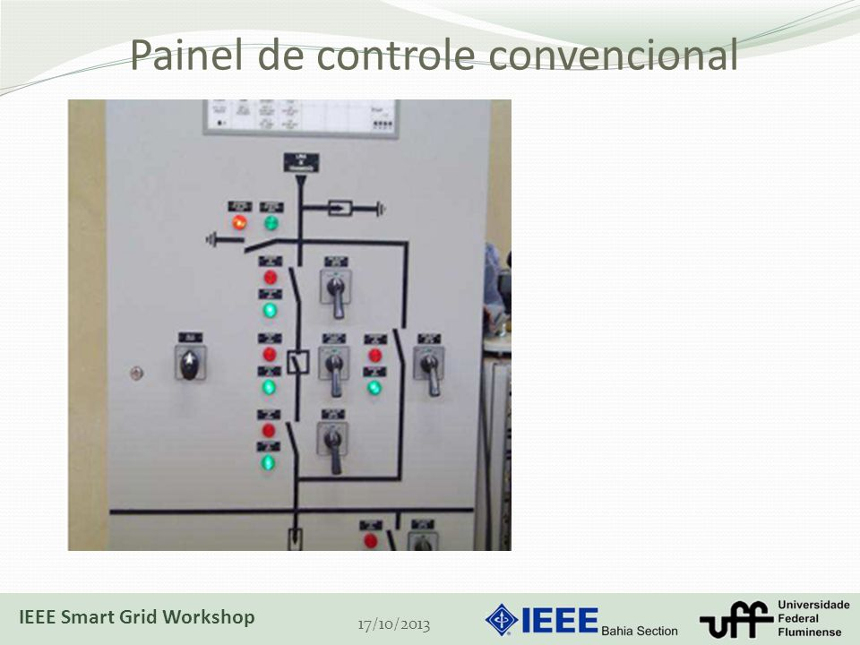 Painel de controle convencional 17/10/2013 IEEE Smart Grid Workshop