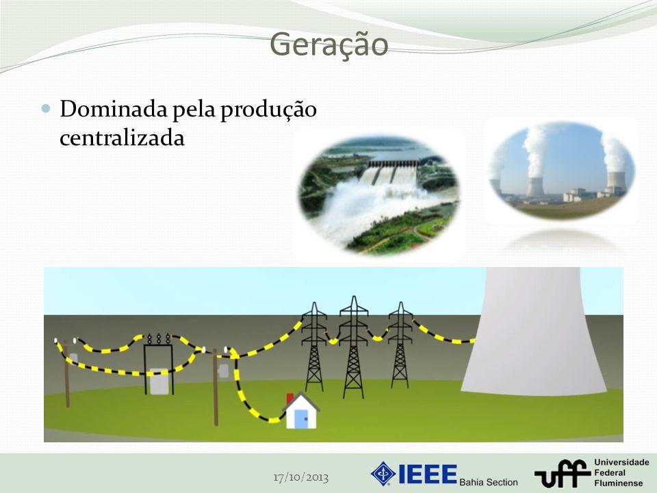 Geração Dominada pela produção centralizada 17/10/2013