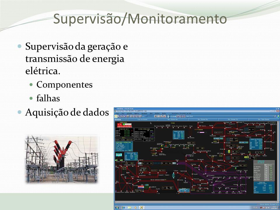 Supervisão/Monitoramento Supervisão da geração e transmissão de energia elétrica. Componentes falhas Aquisição de dados 17/10/2013