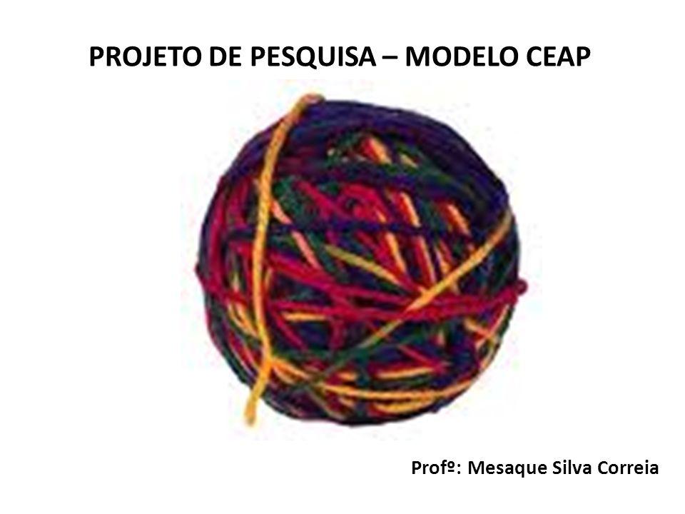 Profº: Mesaque Silva Correia PROJETO DE PESQUISA – MODELO CEAP