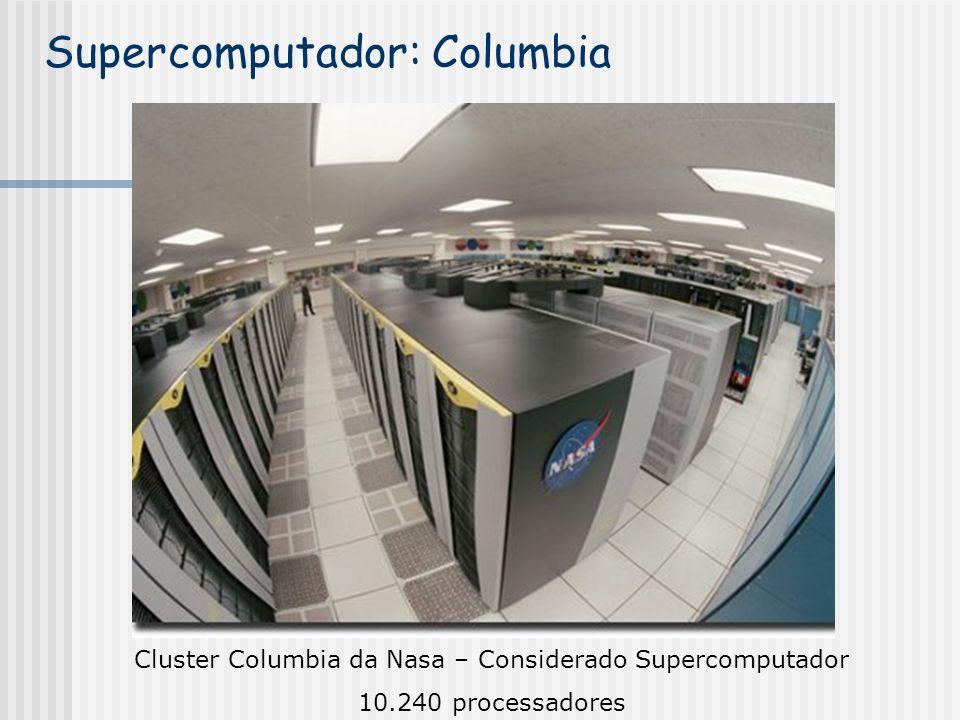 Cluster Columbia da Nasa – Considerado Supercomputador 10.240 processadores Supercomputador: Columbia