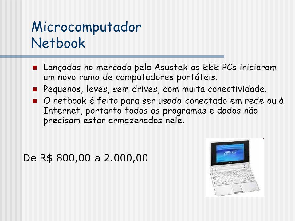 Lançados no mercado pela Asustek os EEE PCs iniciaram um novo ramo de computadores portáteis.