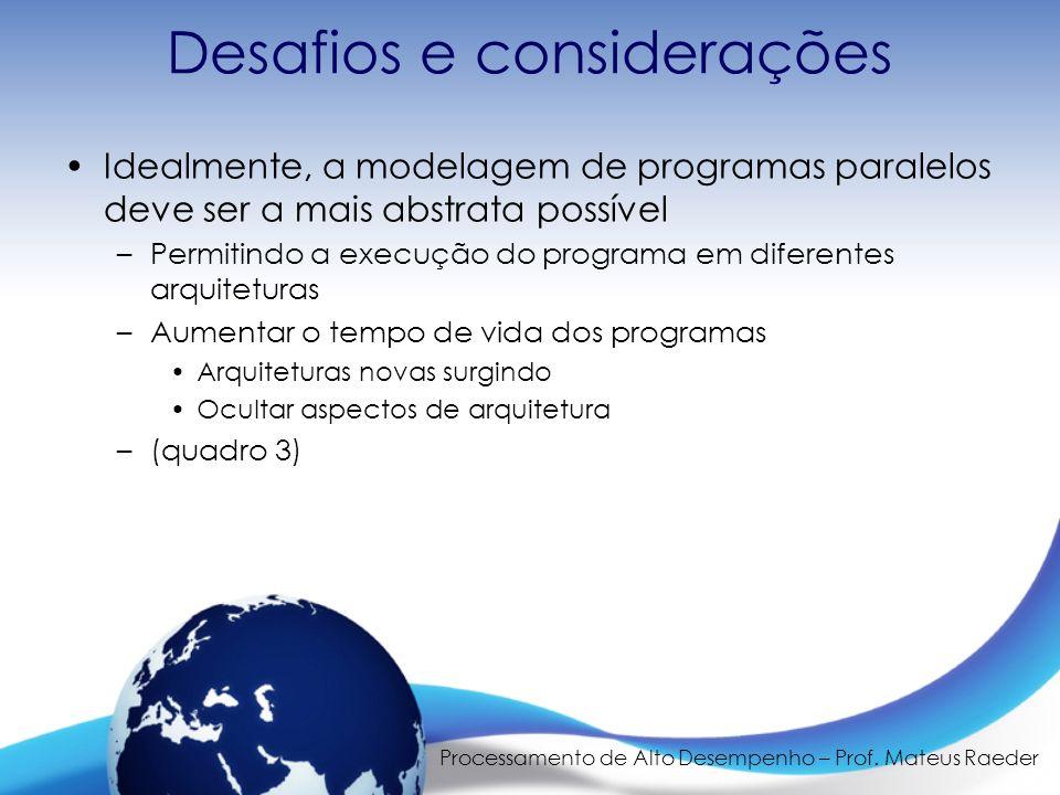 Processamento de Alto Desempenho – Prof.