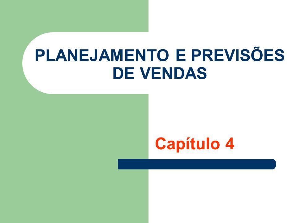 Planejamento e previsões de vendas Previsão de Vendas Vendas do período anterior + consulta aos clientes Taxa de crescimento do ano anterior Extrapolação (estatística) Dados de países mais desenvolvidos