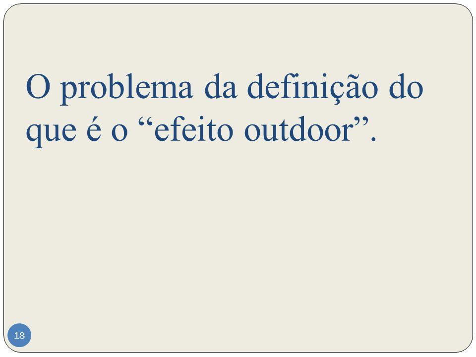 O problema da definição do que é o efeito outdoor. 18