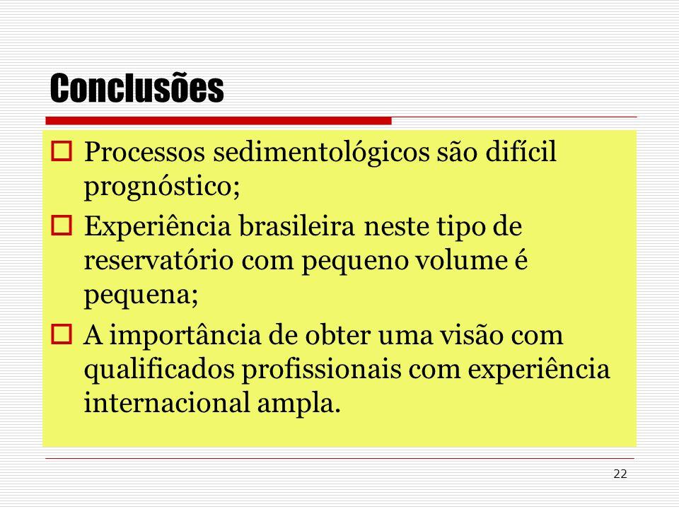 22 Conclusões Processos sedimentológicos são difícil prognóstico; Experiência brasileira neste tipo de reservatório com pequeno volume é pequena; A im