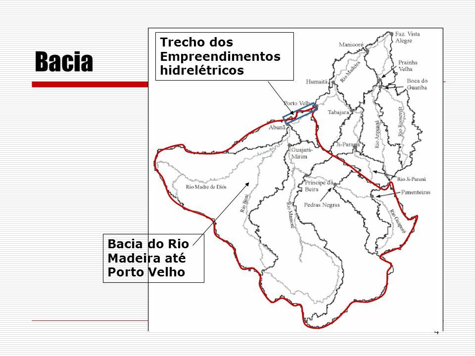 4 Bacia Bacia do Rio Madeira até Porto Velho Trecho dos Empreendimentos hidrelétricos