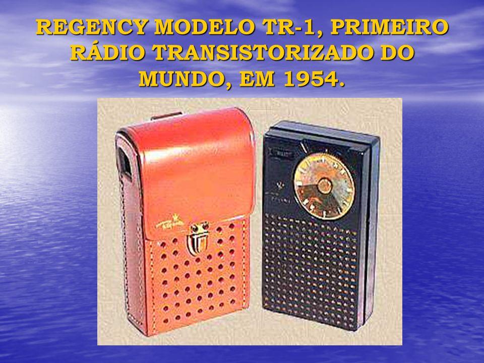 REGENCY MODELO TR-1, PRIMEIRO RÁDIO TRANSISTORIZADO DO MUNDO, EM 1954.