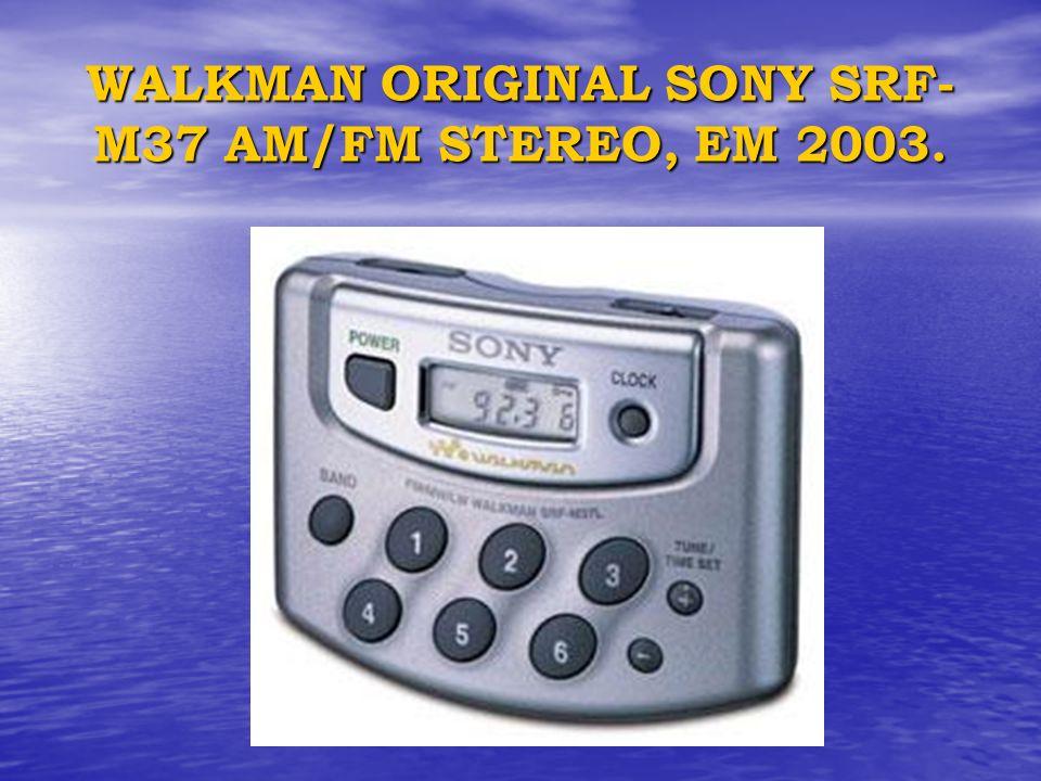 WALKMAN ORIGINAL SONY SRF- M37 AM/FM STEREO, EM 2003.