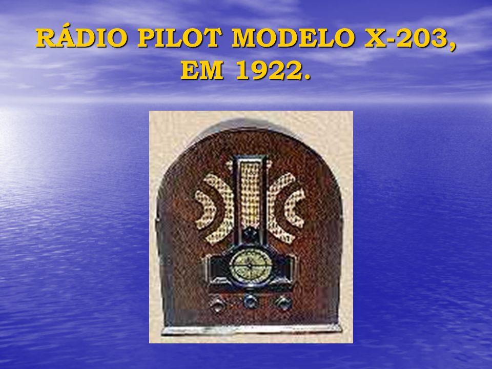 RÁDIO PILOT MODELO X-203, EM 1922.