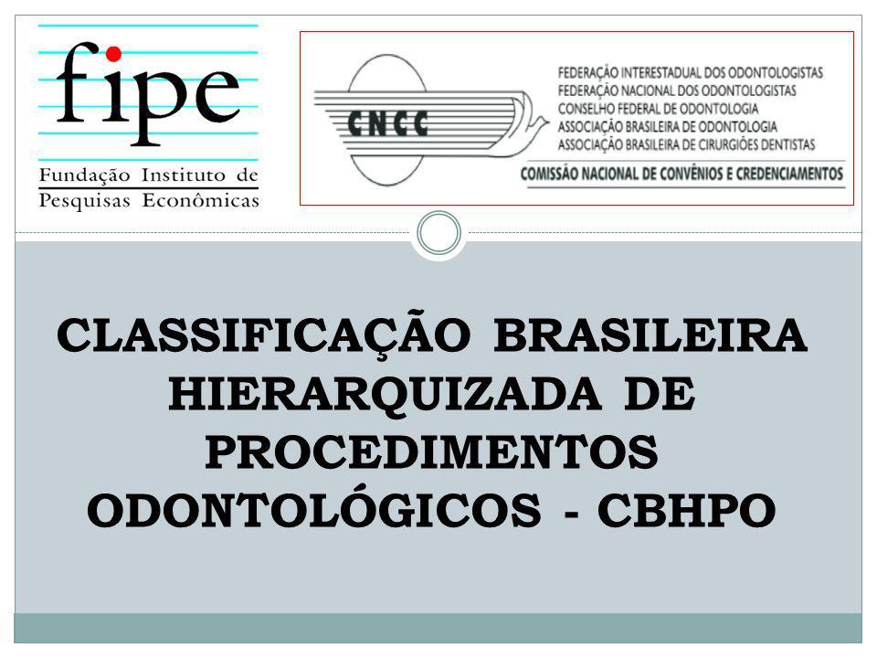 A CNCC verificou que a forma de apresentação mais adequada da CBHPO seria através de áreas de trabalhos: 6.