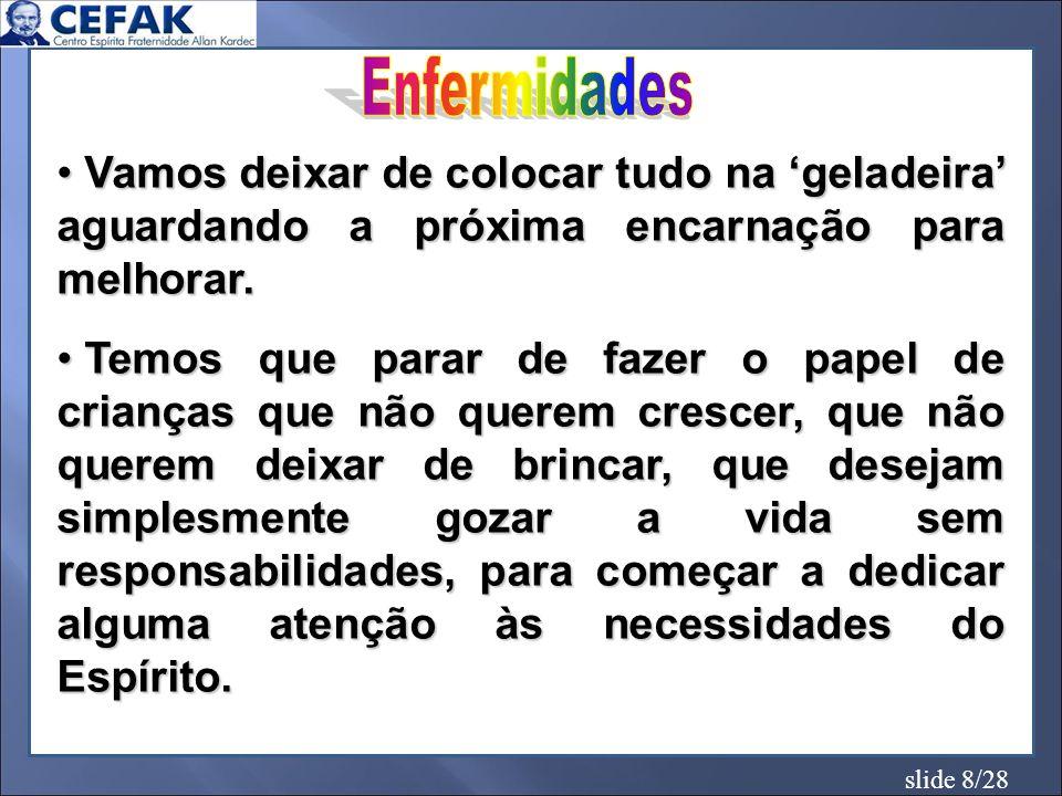 slide 9/28 IRRITAÇÃO DESCONTROLE MAU HUMOR IMPACIÊNCIA RANCOR INVEJA / CIÚME DESRESPEITO PESSIMISMO OCIOSIDADE DESAMOR...