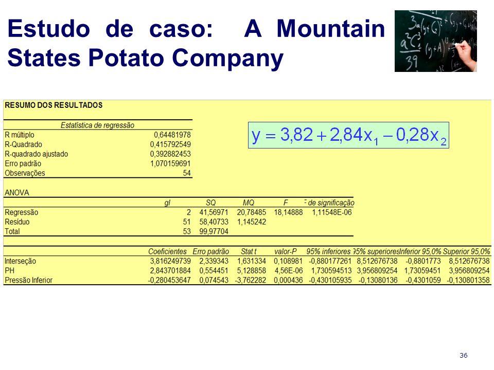 36 Estudo de caso: A Mountain States Potato Company