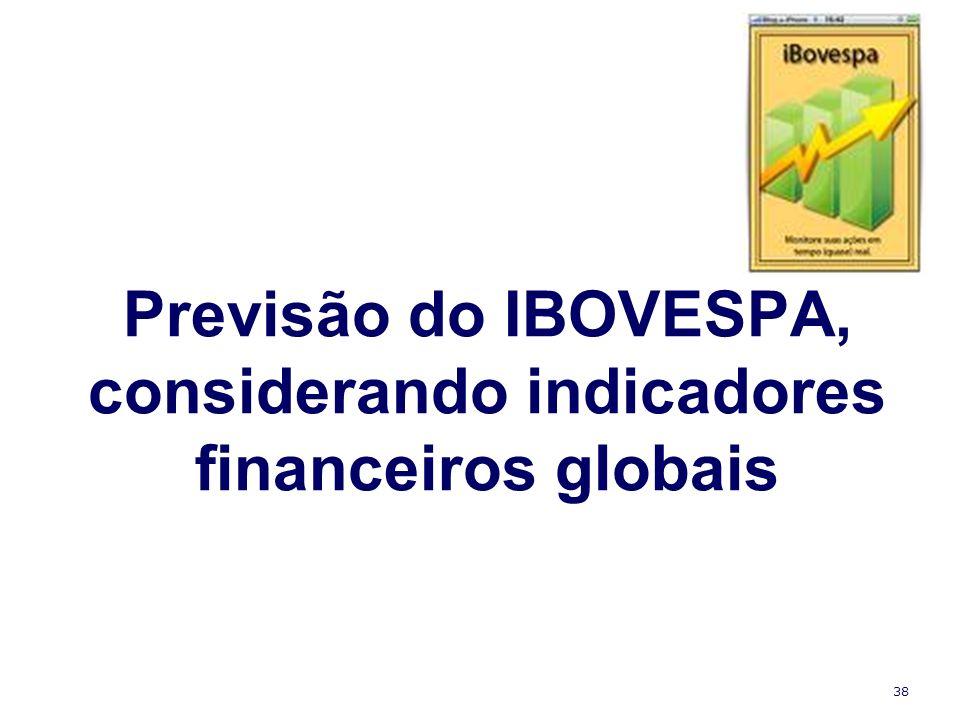 38 Previsão do IBOVESPA, considerando indicadores financeiros globais