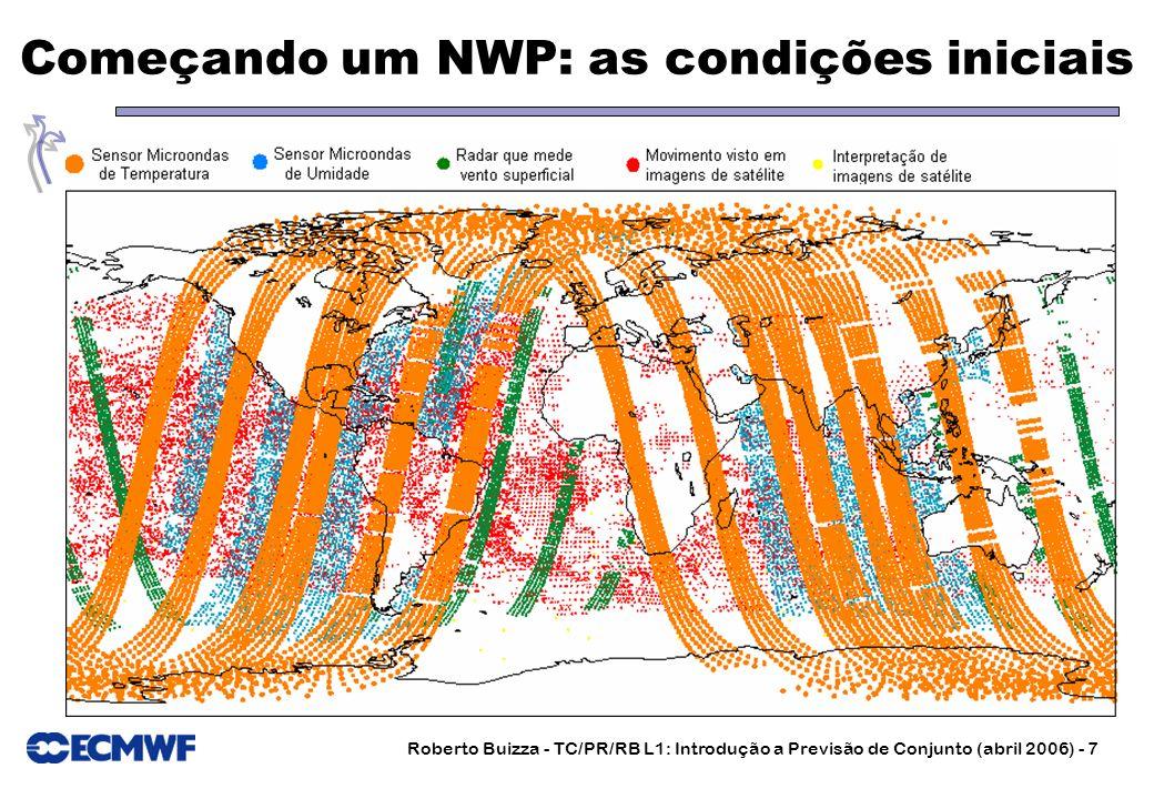 Roberto Buizza - TC/PR/RB L1: Introdução a Previsão de Conjunto (abril 2006) - 7 Começando um NWP: as condições iniciais