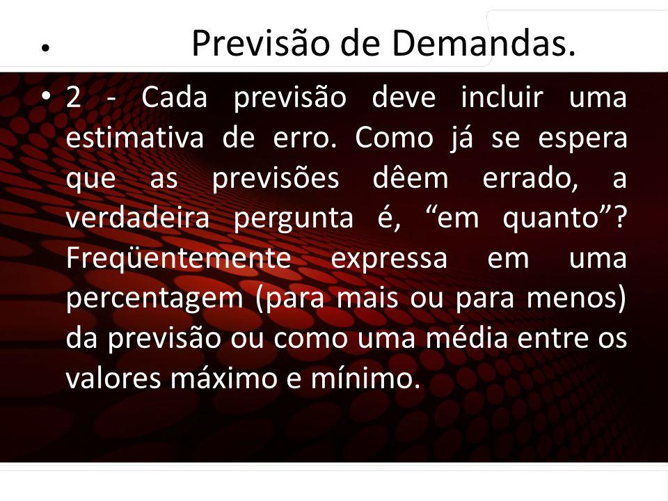euler@imvnet.com.br | www.slideshare.net/eulernogueira Princípios de Previsão … 2 - Cada previsão deve incluir uma estimativa de erro. Como já se espe