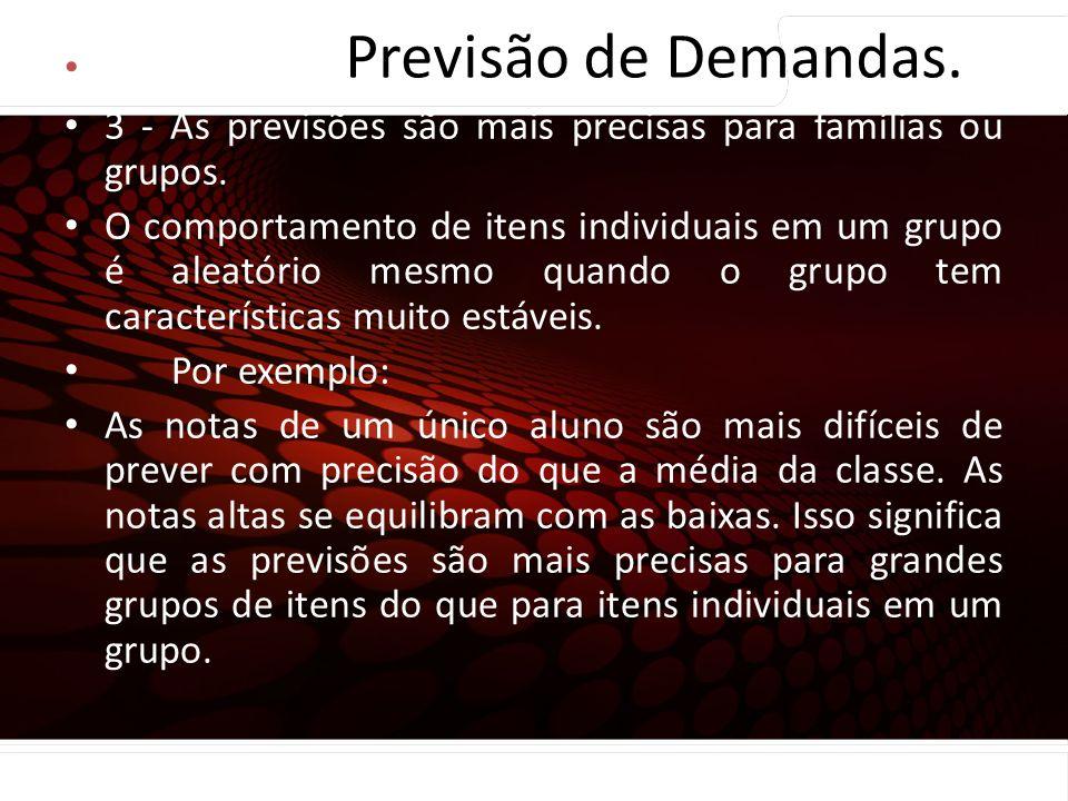 euler@imvnet.com.br | www.slideshare.net/eulernogueira Princípios de Previsão … 3 - As previsões são mais precisas para famílias ou grupos. O comporta