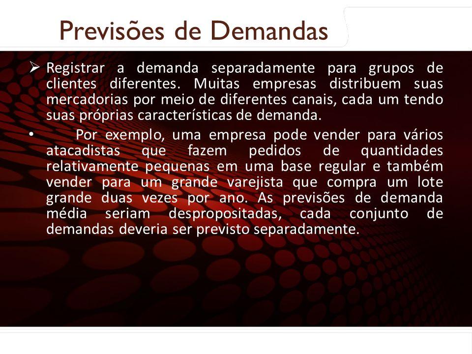 euler@imvnet.com.br | www.slideshare.net/eulernogueira Coleta e preparação dos dados: Registrar a demanda separadamente para grupos de clientes difere