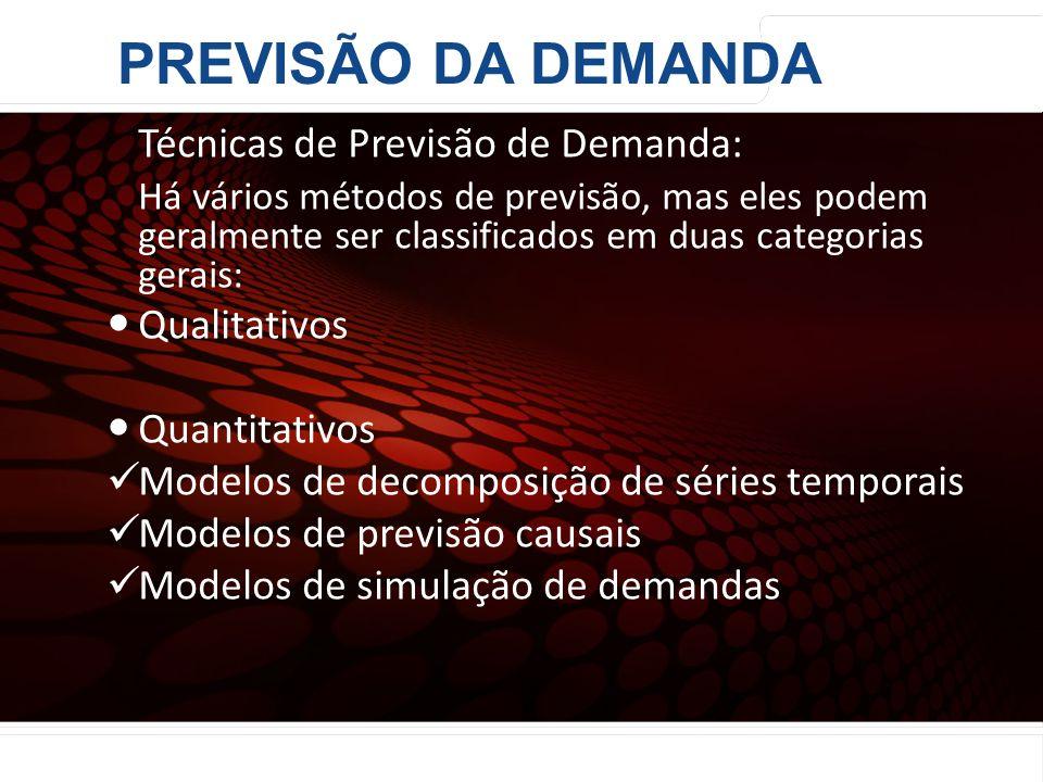 euler@imvnet.com.br | www.slideshare.net/eulernogueira Técnicas de Previsão de Demanda: Há vários métodos de previsão, mas eles podem geralmente ser c