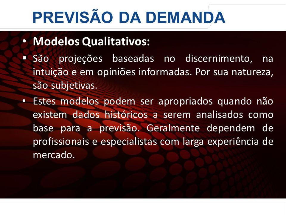 euler@imvnet.com.br | www.slideshare.net/eulernogueira Modelos Qualitativos: São projeções baseadas no discernimento, na intuição e em opiniões inform