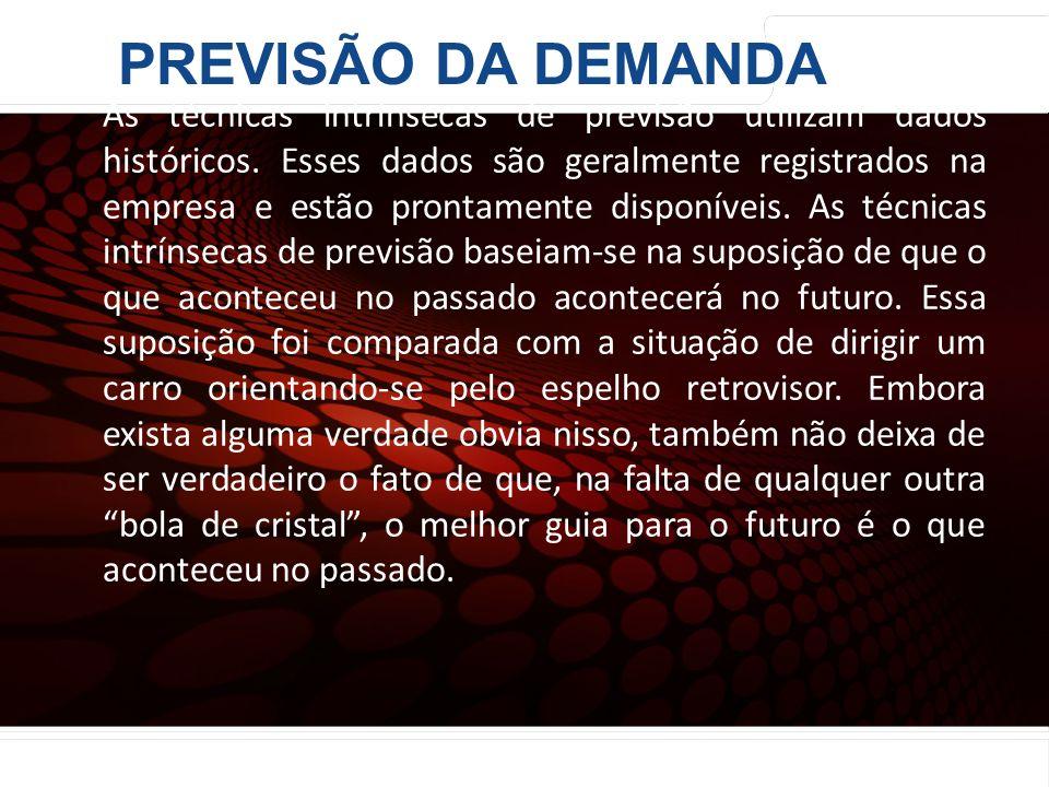 euler@imvnet.com.br | www.slideshare.net/eulernogueira Técnicas Quantitativas Intrínsecas: As técnicas intrínsecas de previsão utilizam dados históric