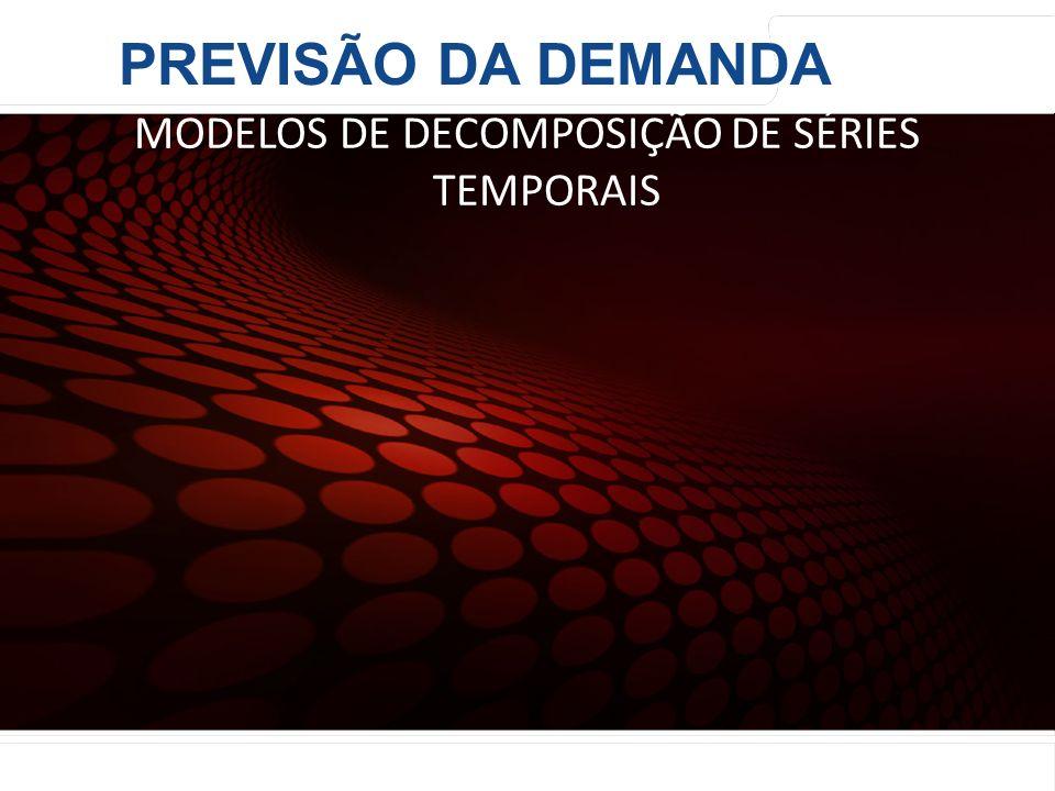 euler@imvnet.com.br | www.slideshare.net/eulernogueira MÉTODOS QUANTITATIVOS MODELOS DE DECOMPOSIÇÃO DE SÉRIES TEMPORAIS PREVISÃO DA DEMANDA