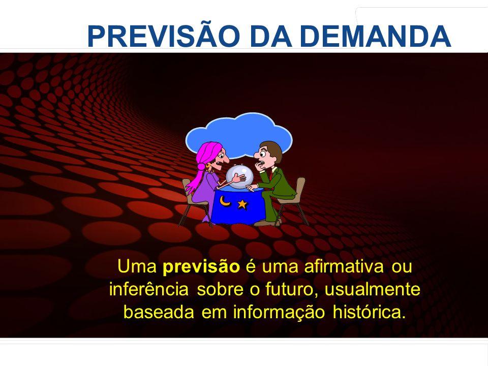 euler@imvnet.com.br | www.slideshare.net/eulernogueira PREVISÃO DA DEMANDA Uma previsão é uma afirmativa ou inferência sobre o futuro, usualmente base