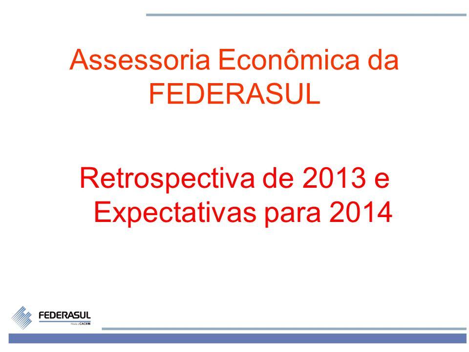 1 Assessoria Econômica da FEDERASUL Retrospectiva de 2013 e Expectativas para 2014