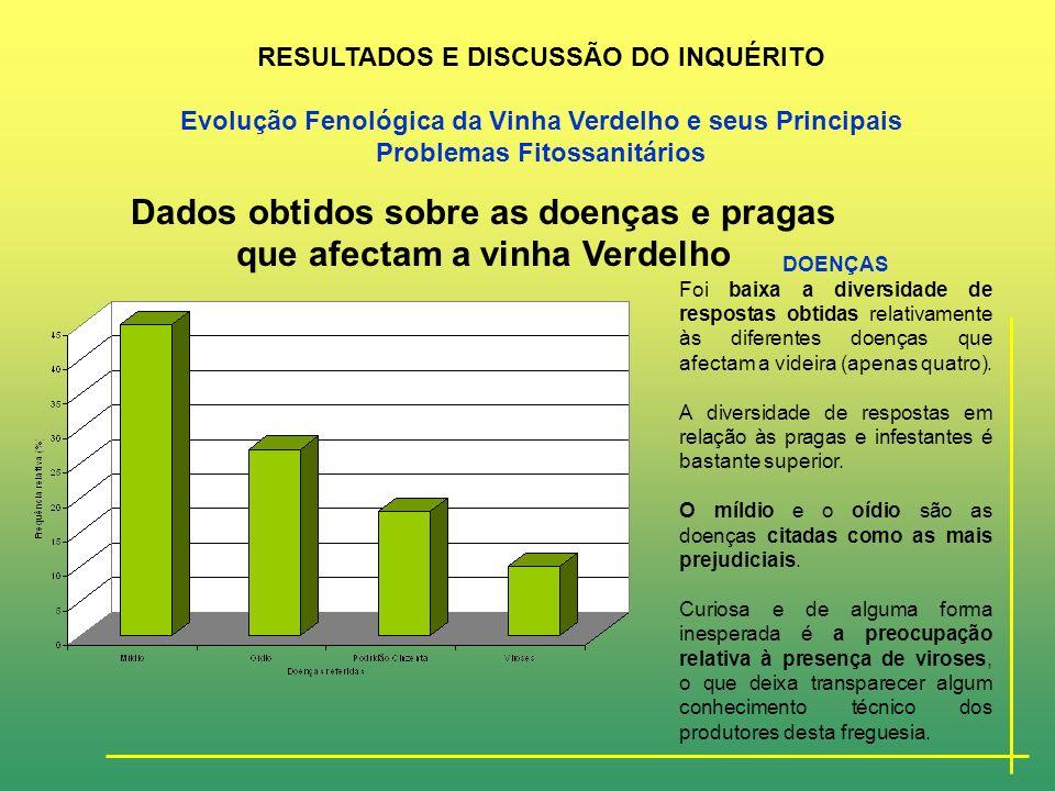 Principais pragas, doenças e infestantes encontradas na vinha, em Portugal Continental, (adapt. LAVADINHO & JÚLIO (1988).