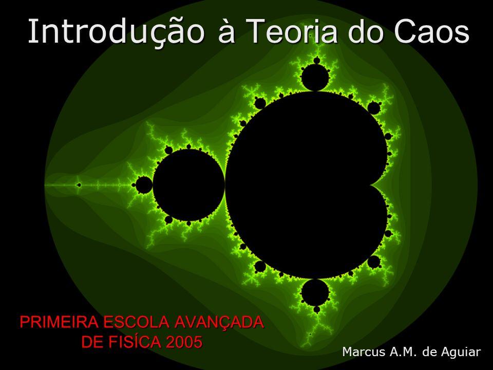 PRIMEIRA ESCOLA AVANÇADA DE FISÍCA 2005 Introdução à Teoria do Caos Marcus A.M. de Aguiar