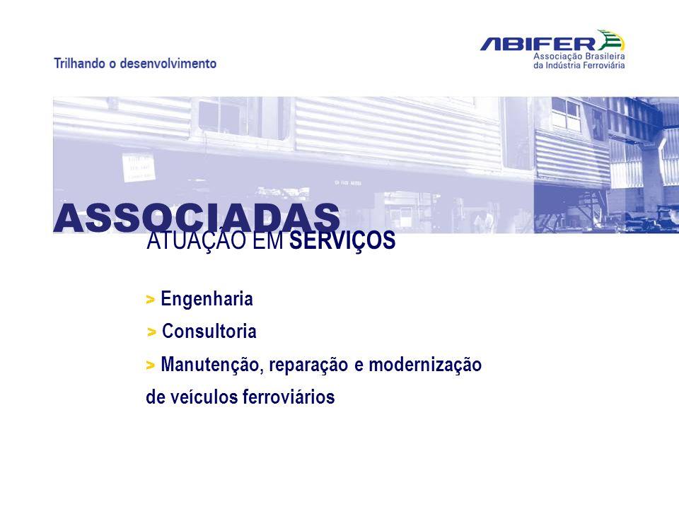 ATUAÇÃO EM SERVIÇOS ASSOCIADAS > Engenharia > Manutenção, reparação e modernização de veículos ferroviários > Consultoria