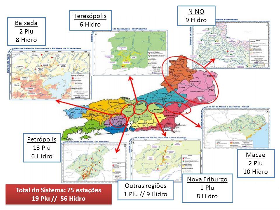A rede de monitoramento hidrometeorológico, com a inclusão de um sistema de 2 radares banda S do tipo Doppler polarimétrico, deverá cobrir completamente o Estado do Rio de Janeiro e algumas áreas dos Estados vizinhos, o que permitirá monitorar o deslocamento de formações provenientes de outras regiões.