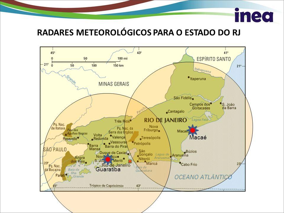 RADARES METEOROLÓGICOS PARA O ESTADO DO RJ Guaratiba Macaé