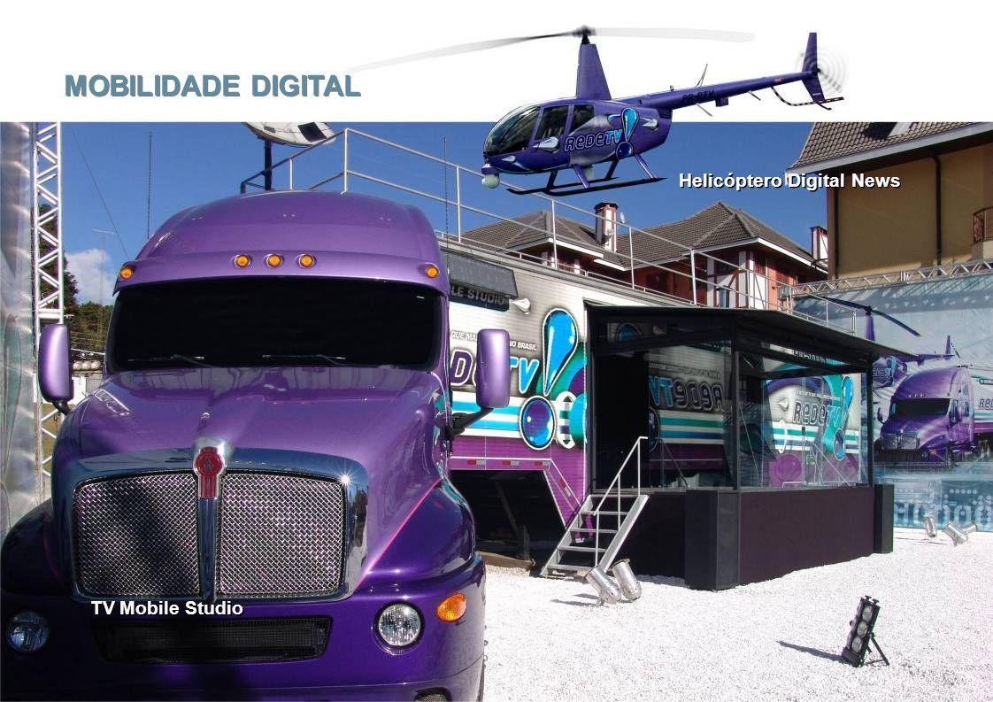 MOBILIDADE DIGITAL Helicóptero Digital News TV Mobile Studio