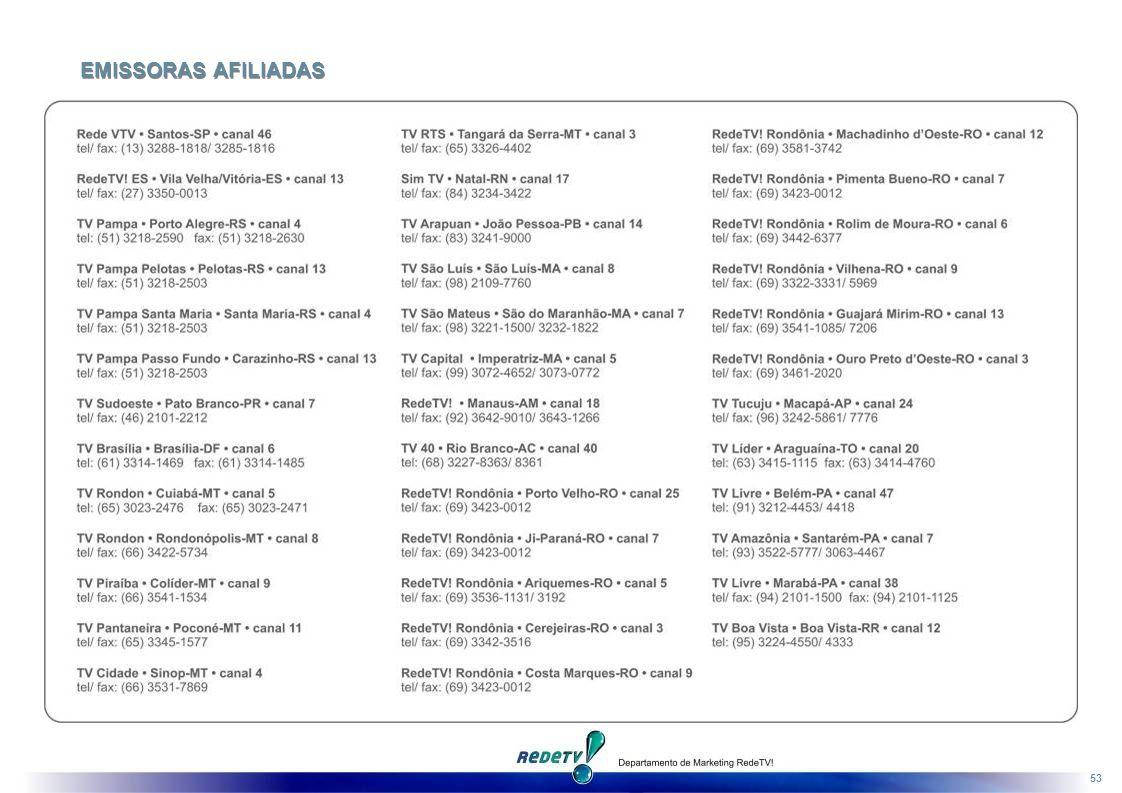 53 EMISSORAS AFILIADAS