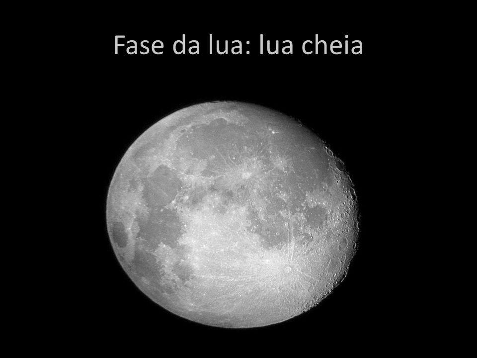 Fase da lua: lua cheia