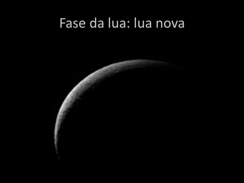 Fase da lua: lua nova