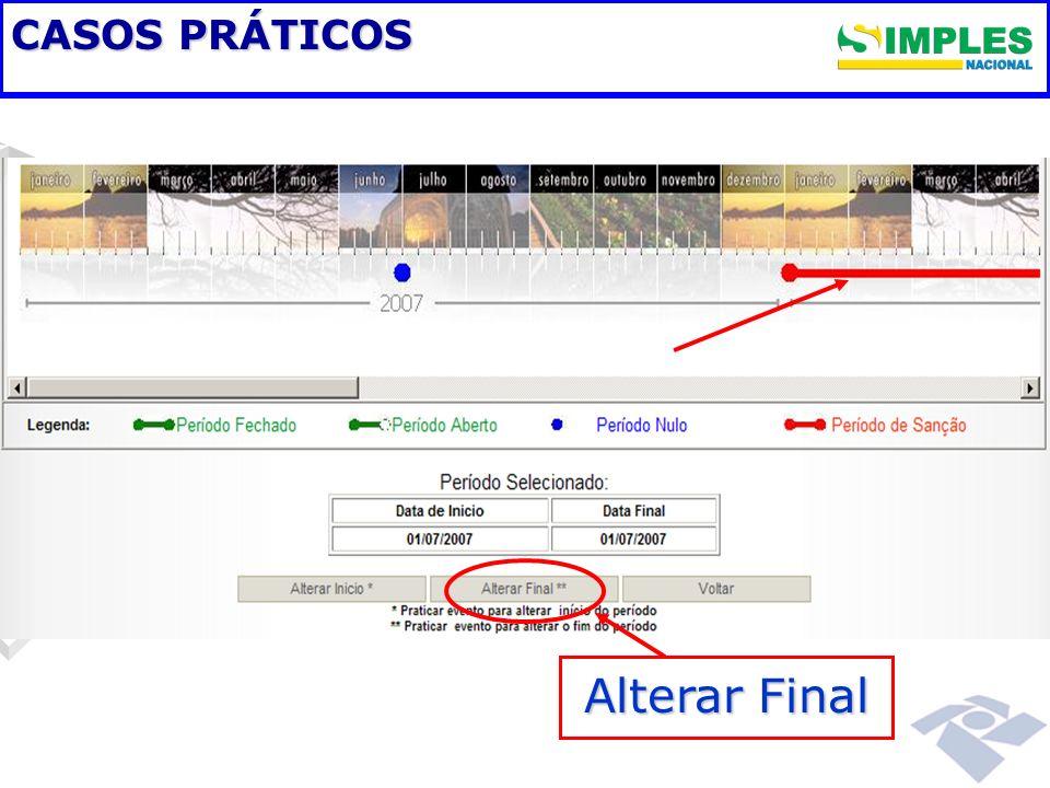 CASOS PRÁTICOS Alterar Final