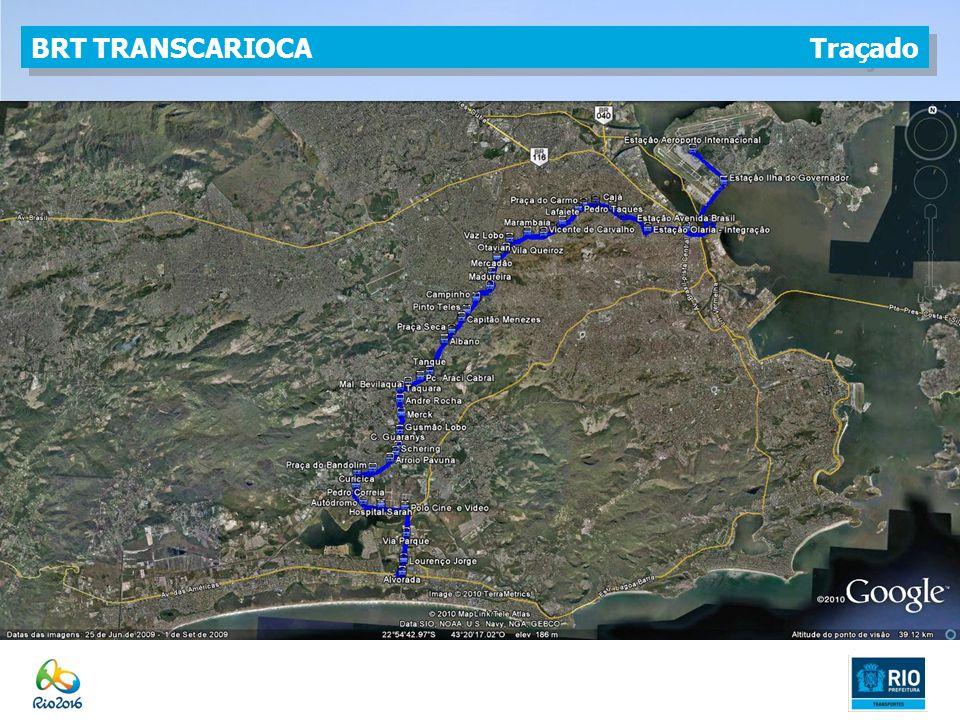 BRT TRANSCARIOCA Traçado