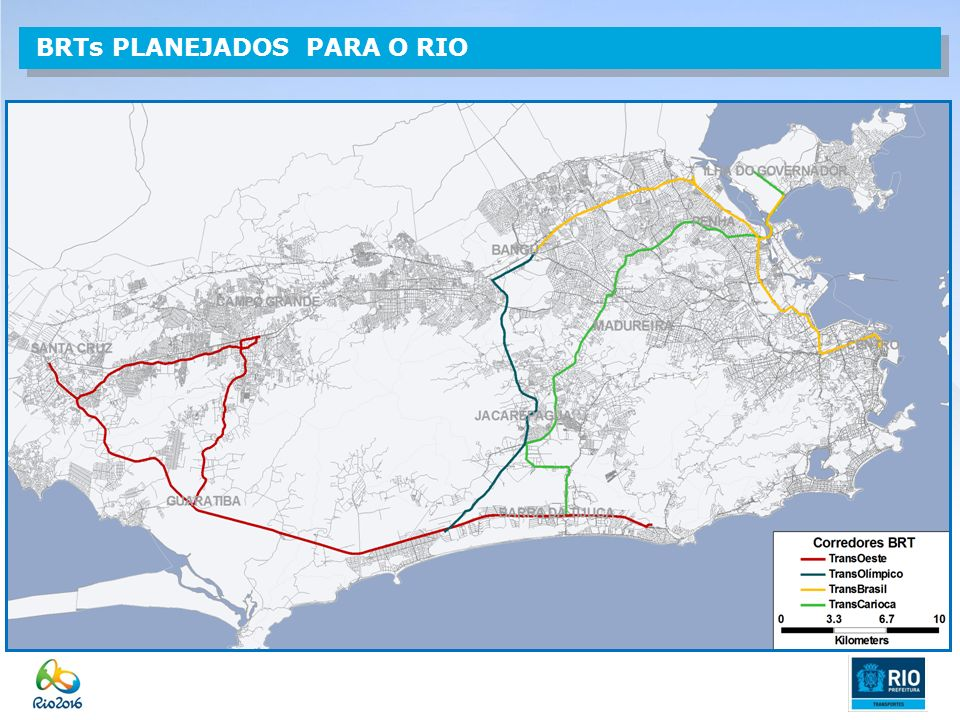 BRTs PLANEJADOS PARA O RIO