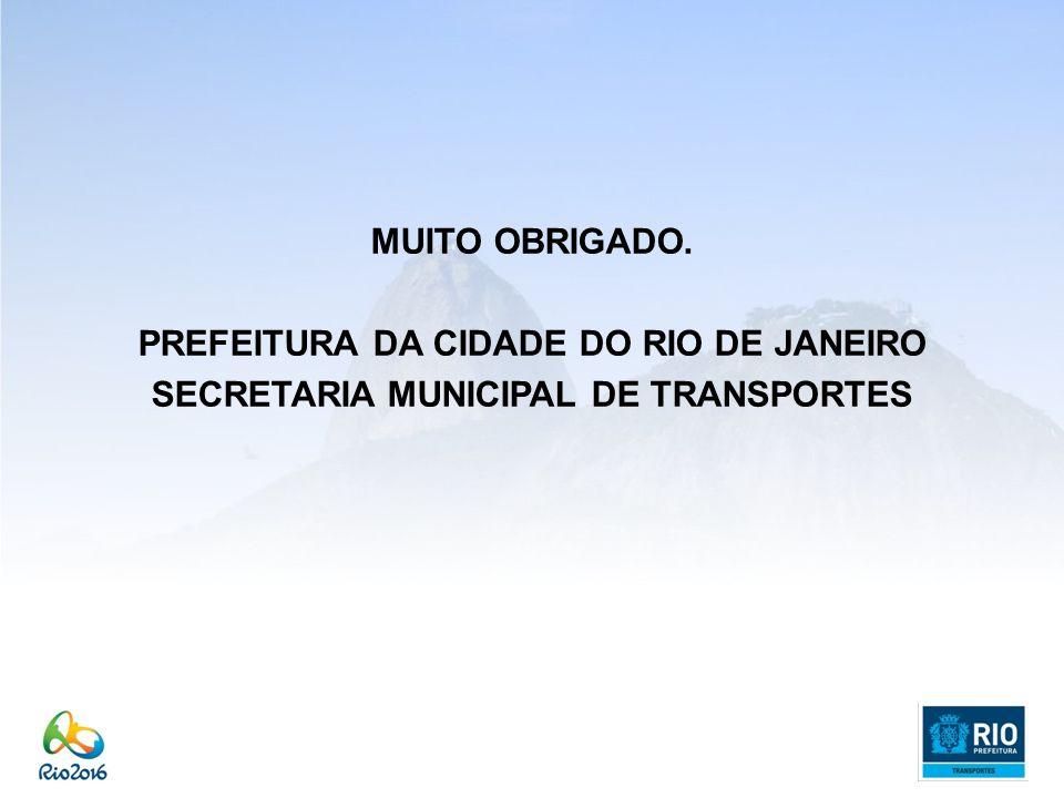 MUITO OBRIGADO. PREFEITURA DA CIDADE DO RIO DE JANEIRO SECRETARIA MUNICIPAL DE TRANSPORTES