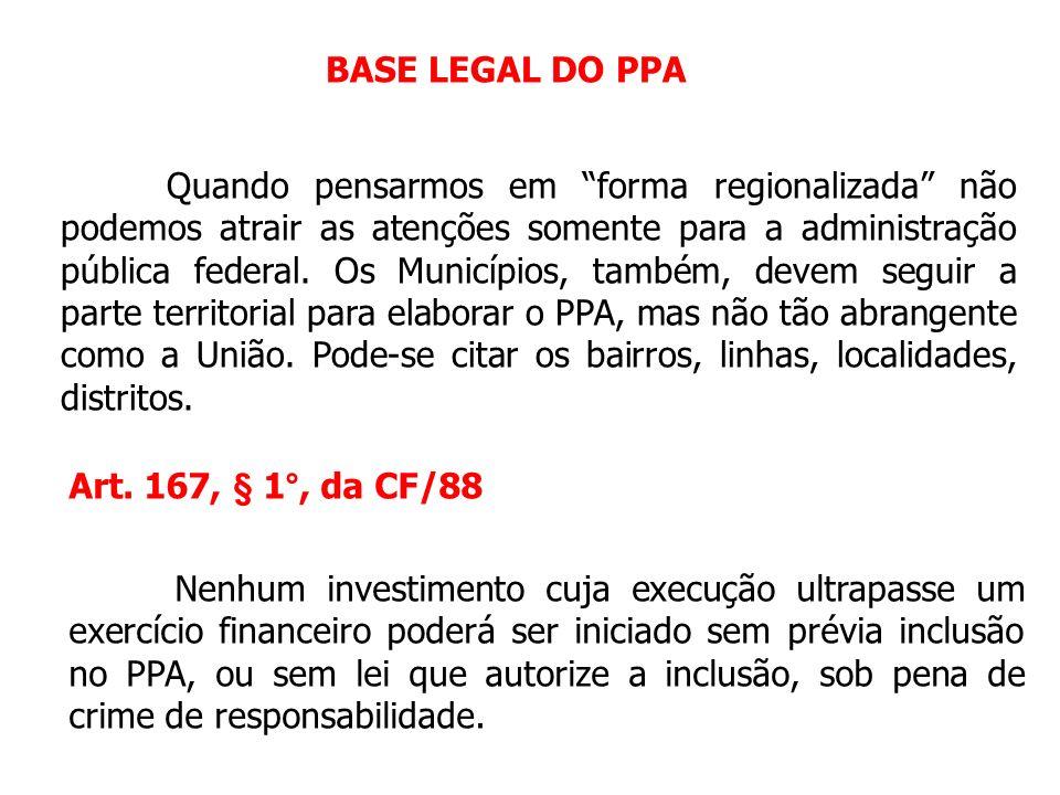 regionalizadadiretrizesobjetivos metasdespesas de capitaloutras delas decorrentes programas de duração continuada Art. 165 (...) § 1° - A lei que inst