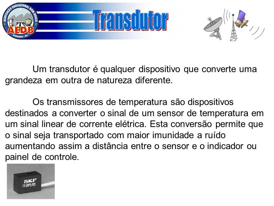 Um transdutor é qualquer dispositivo que converte uma grandeza em outra de natureza diferente. Os transmissores de temperatura são dispositivos destin