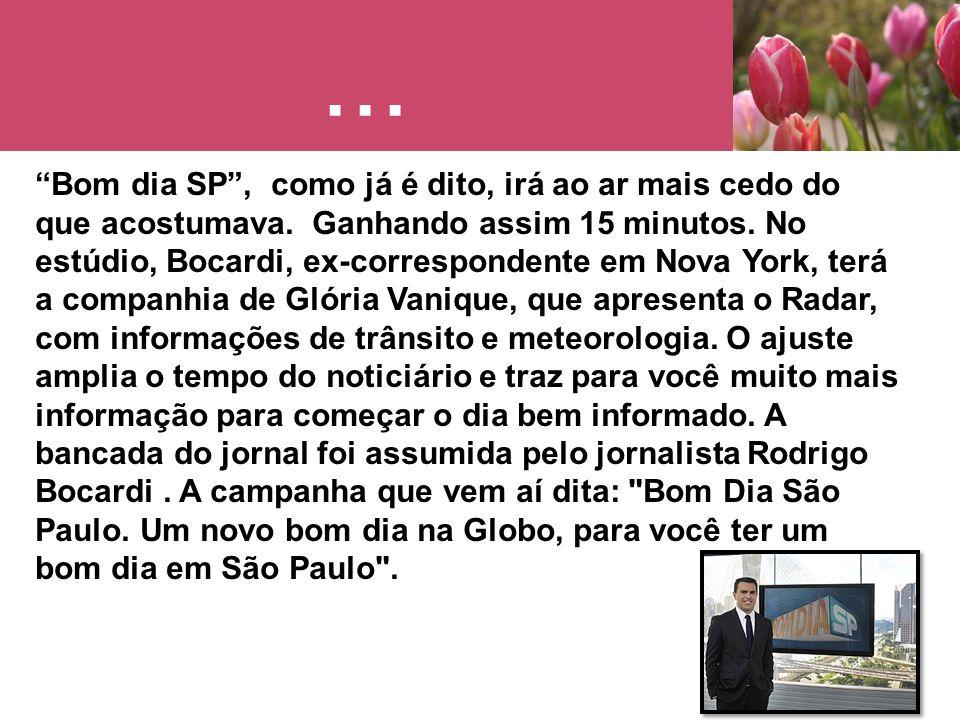 Público Alvo De segunda a sexta-feira, o telejornal é líder de audiência em toda a Região Metropolitana de São Paulo.
