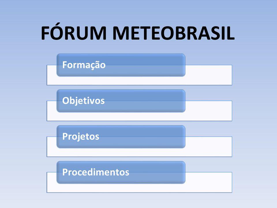 FÓRUM METEOBRASIL FormaçãoObjetivosProjetosProcedimentos