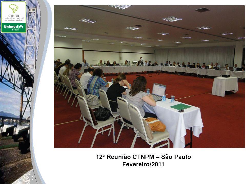 12ª Reunião CTNPM – São Paulo Fevereiro/2011